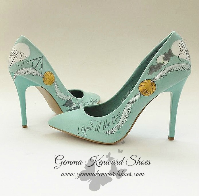 Golden Snitch Harry Potter wedding shoes
