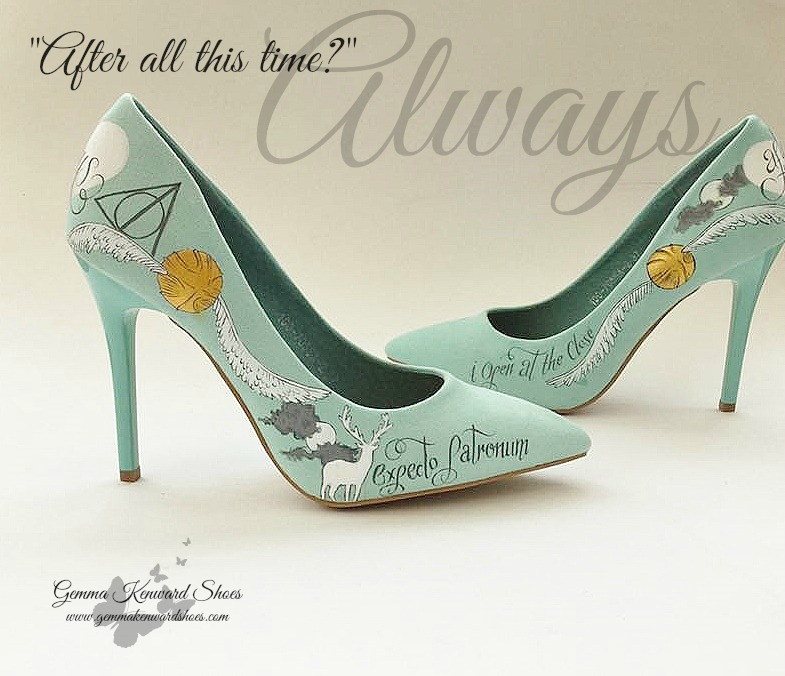 Harry Potter Quote wedding shoes