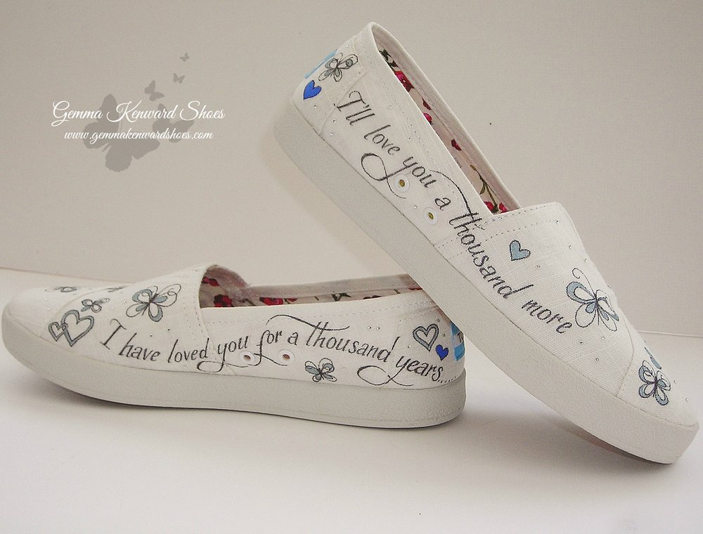 Hand painted flat wedding Toms.JPG