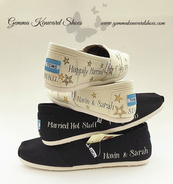 Black wedding Toms painted with stars.jpg
