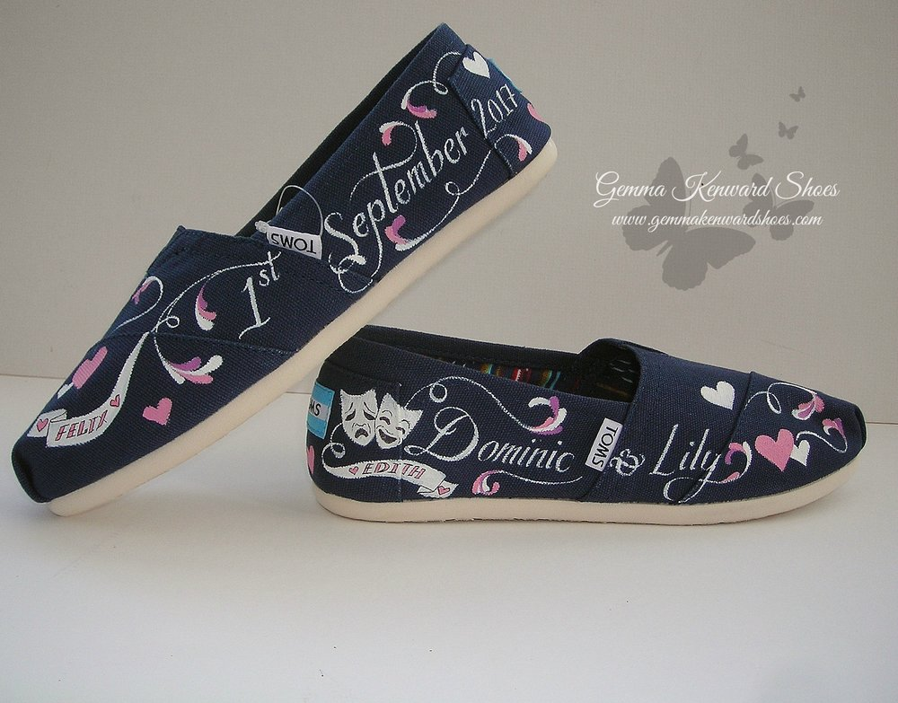 Customised wedding pink navy Toms.JPG