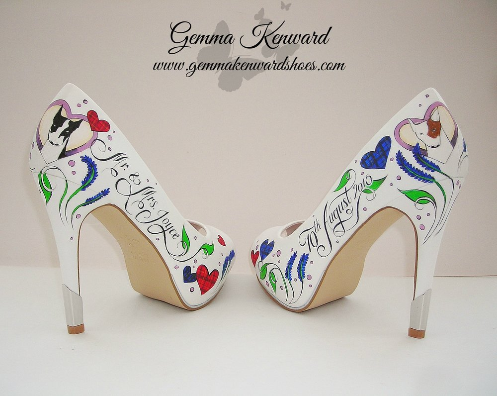 Hand Painted personalised dog portrait wedding shoes.JPG