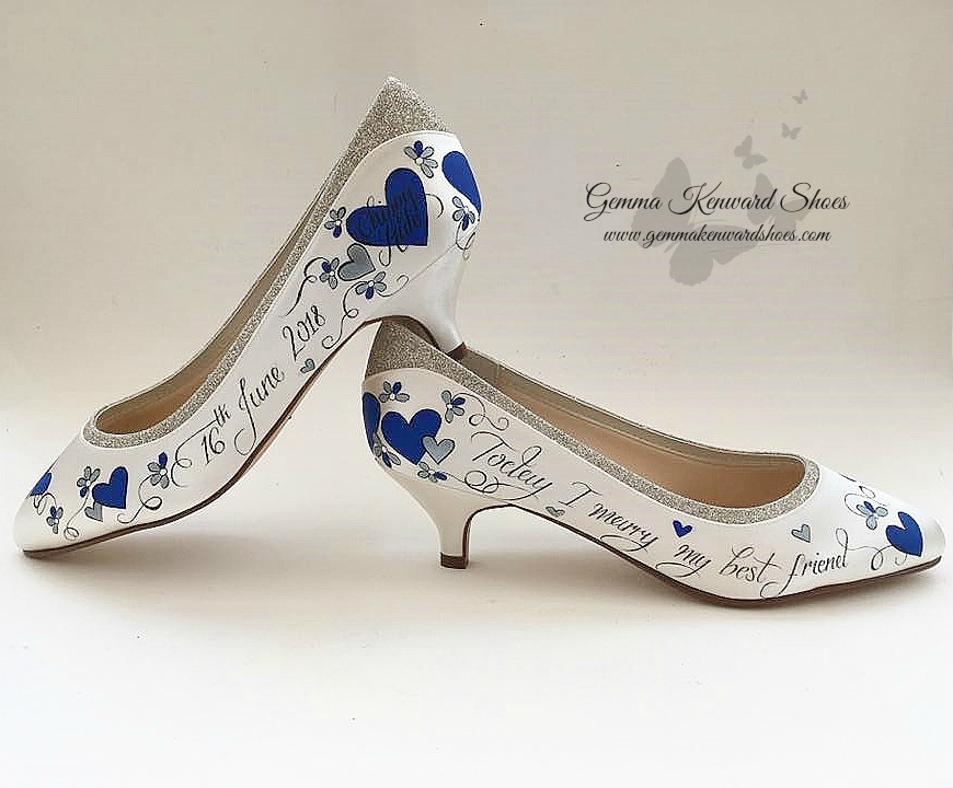 Hand painted personalised royal blue wedding shoes.jpg