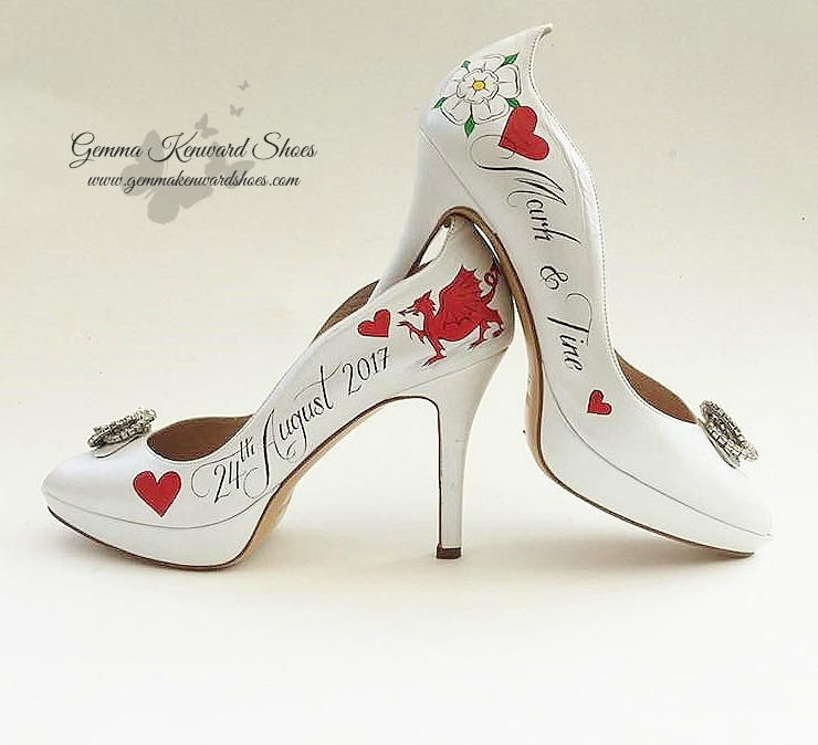 Welsh Dragon wedding shoes hand painted .jpg
