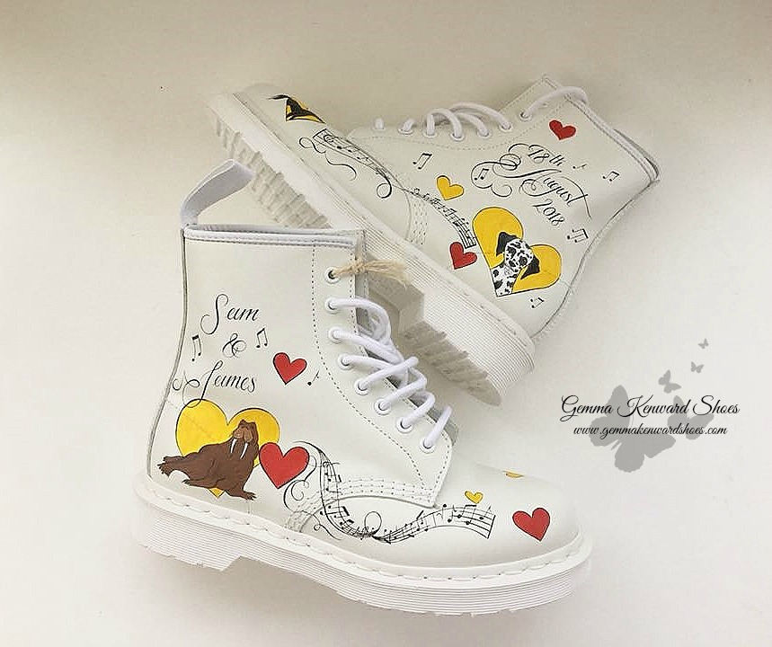 Hand Painted Wedding Doc Martens yellow and red .jpg