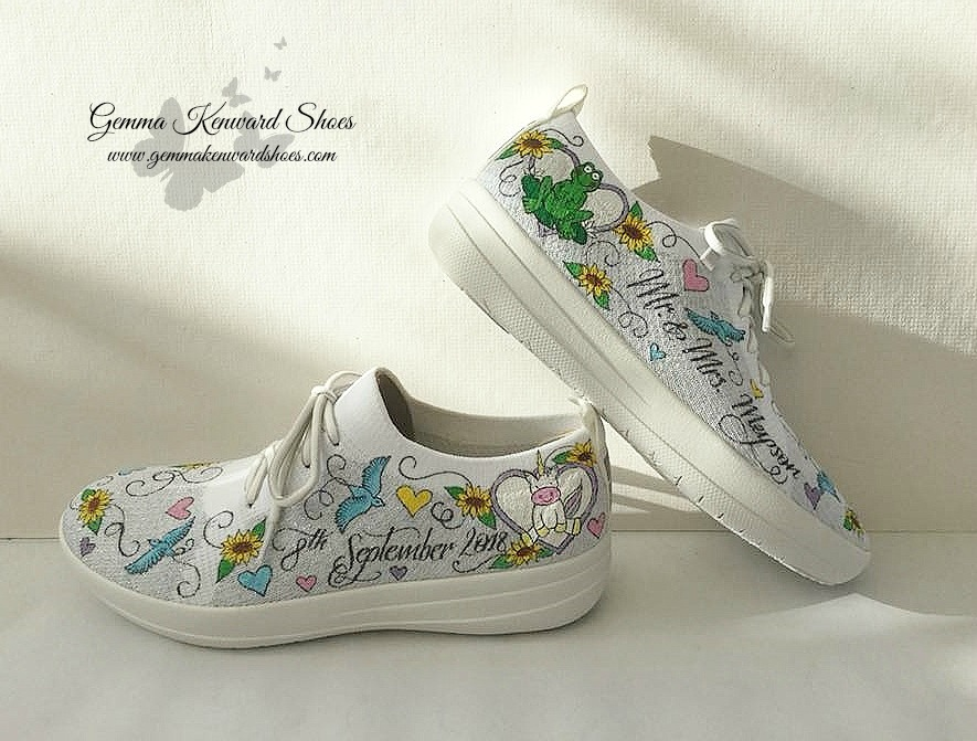 Hand painted wedding running trainers.jpg