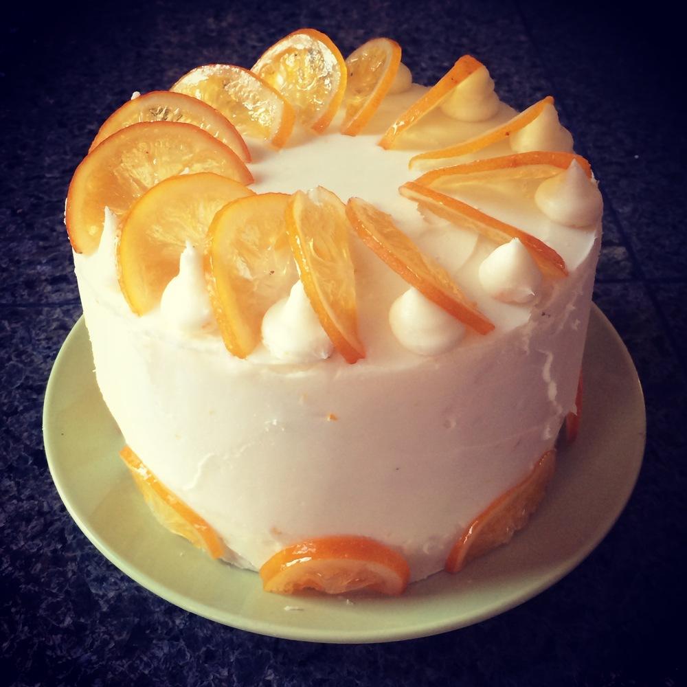 Meyer lemon curd cake