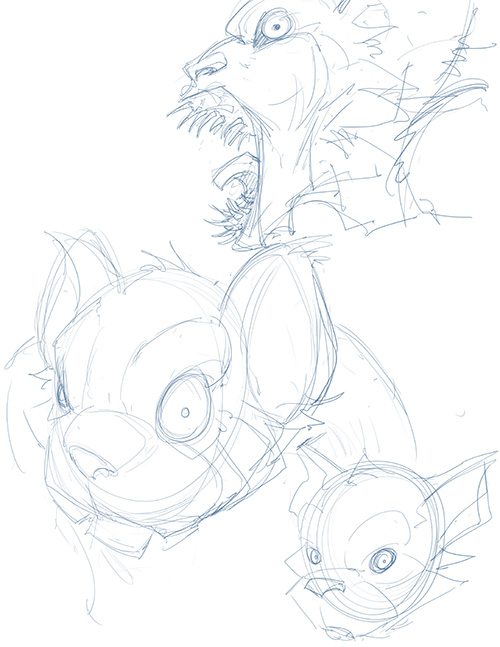 Here is the preliminary sketches for Jeff Grubb's addition to our book! Go grab your copy today and if you feel so inclined get your own creature in the book as well!