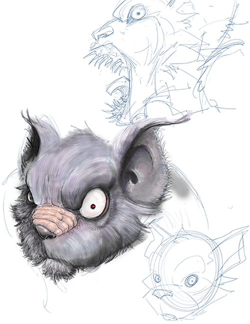 added snout. WIP. Make sure you go check out our book over on kickstarter!