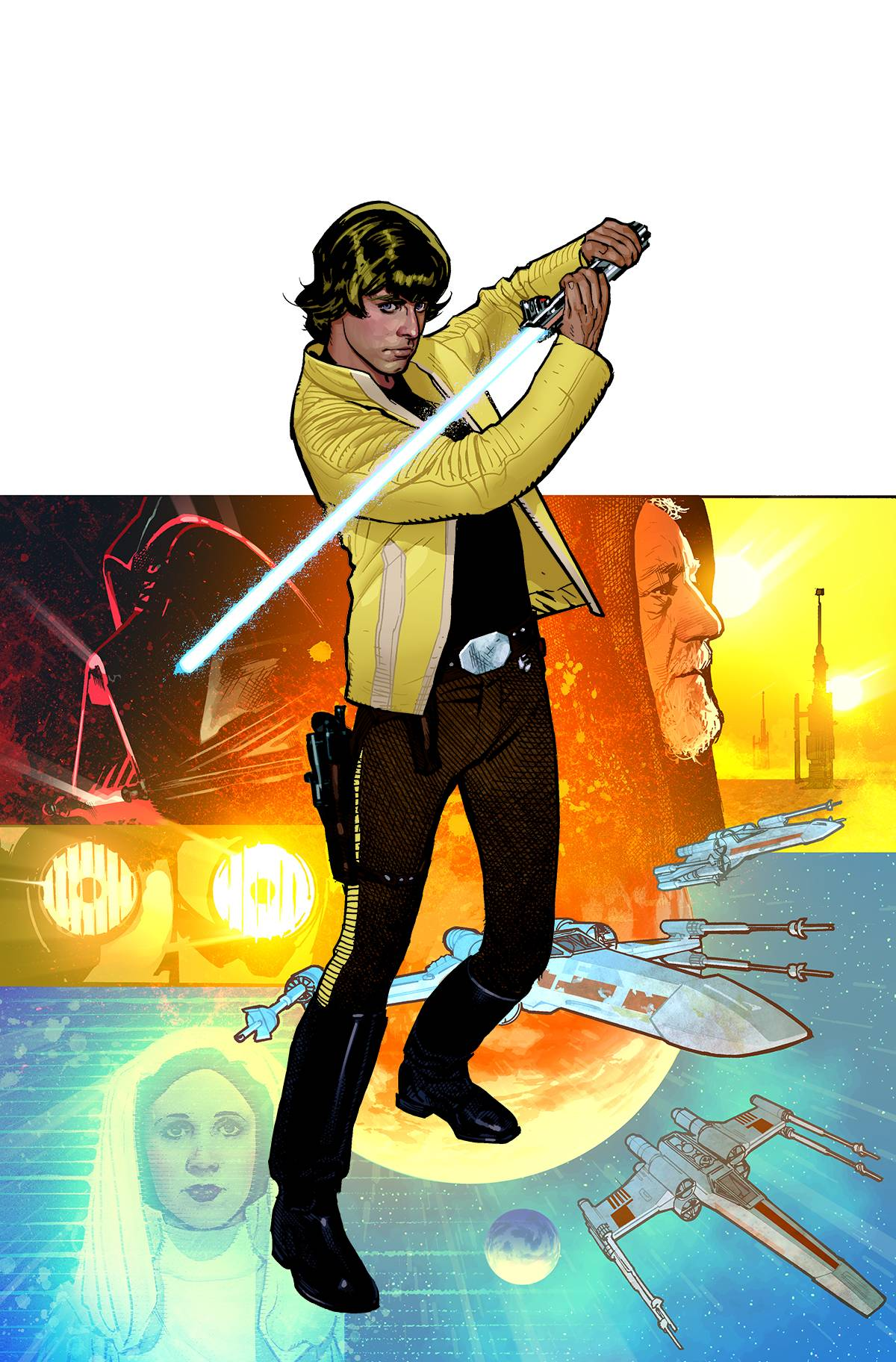 brianmichaelbendis: Luke Skywalker by Adam Hughes Beautiful.