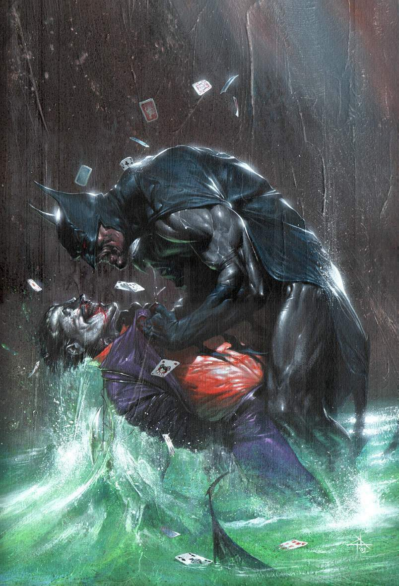 brianmichaelbendis: Batman vs Joker by Gabriele Dell'Otto This is amazing!