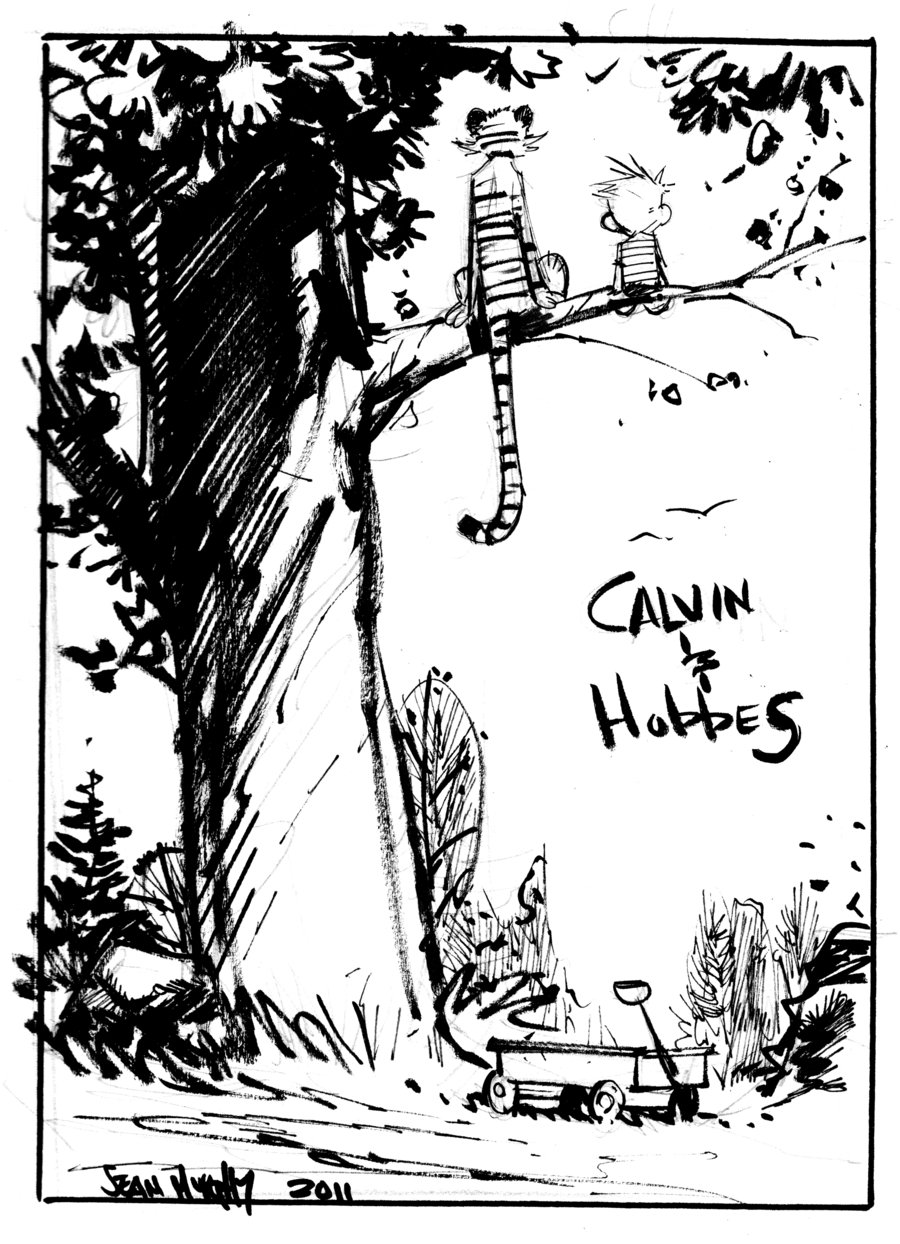 brianmichaelbendis: Calvin And Hobbes by Sean Gordon Murphy This is just great.