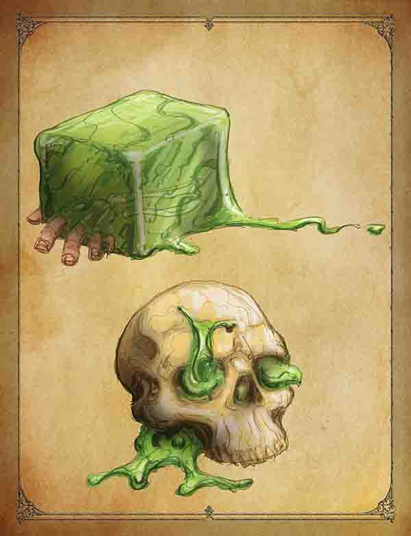 Baby Gelatinous Cubes by: Amy Dawn