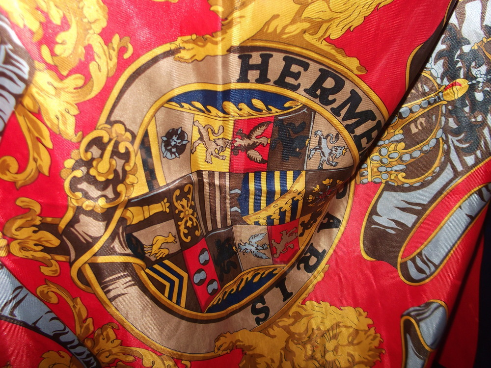 Vintage Hermes Scarf at Pop Up Vintage Fairs London St Stephens Rosslyn Hill Hampstead.JPG