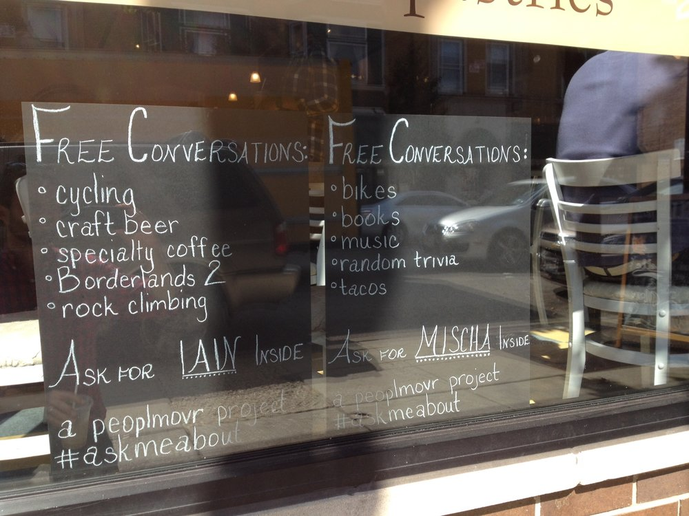 Free Conversations, Chicago, IL, installation