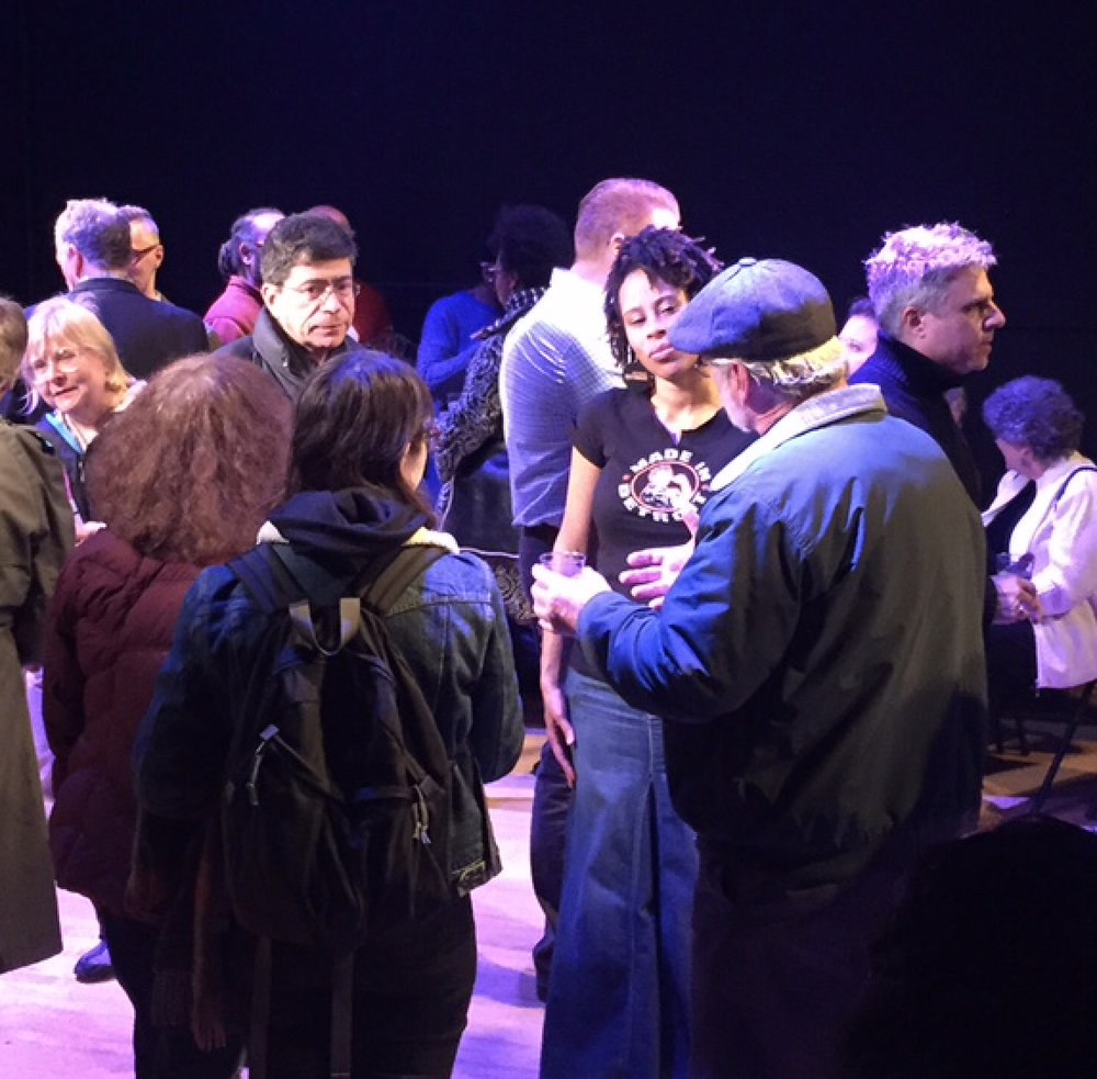 A pre-show meet and greet with community members and playwright Dominique Morisseau