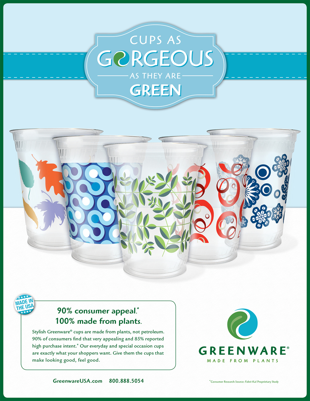 Greenware print ad published in the event program for the 49th Annual  Western Michigan University Food Marketing Conference , March 2014.