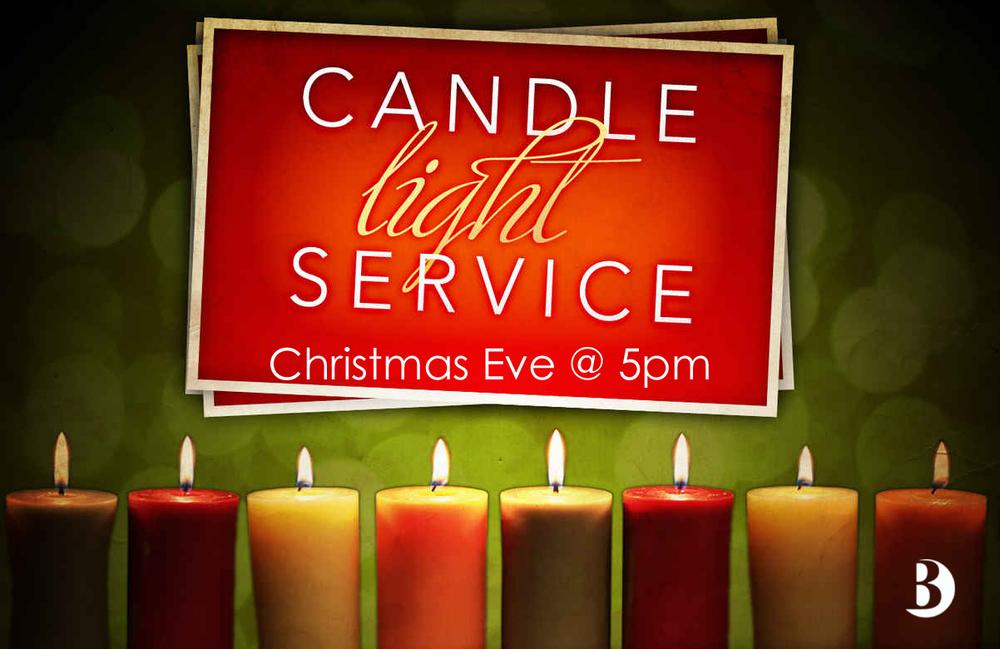 Christmas Eve Candlelight Service Clip Art