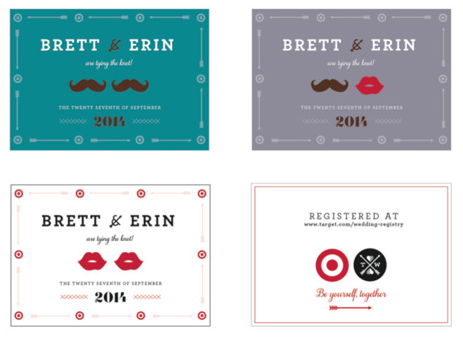 What if Target created custom registry invites for any kind of couple?