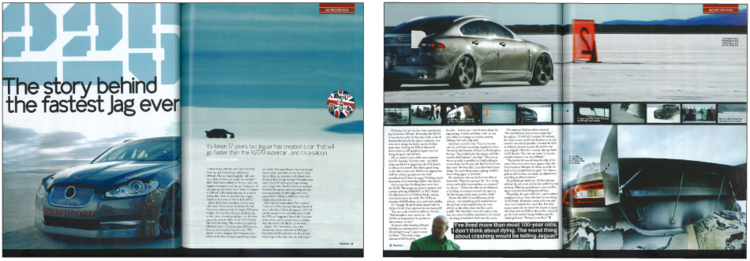 Photos were featured in  Top Gear  magazine.