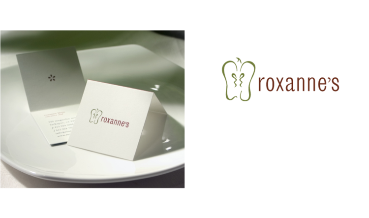 When vegan raw food became a luxury trend in San Francisco, I decided to meet up with the owner of Roxanne's restaurant in Marin county. Their strong beliefs with their elegant gourmet style inspired a delicate logo.