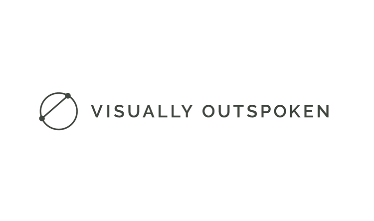 Visually Outspoken is a small design shop who educates business owners on how to define their brand and visually communicate it. While the symbol might be simple (or celestial!), it is derived from an infographic developed to help define a  point of differentiation  for a brand.