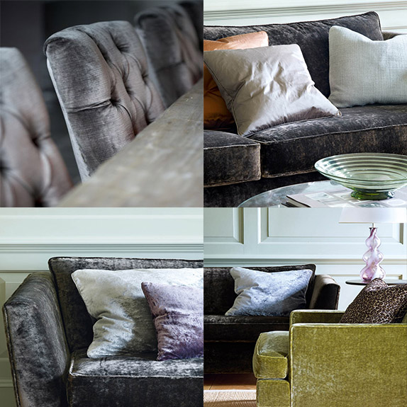Comfort begins with a touch of Velvet. Velvet by Cowtan and Tout