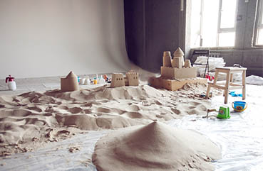 The art of sandcastles....Indoors!