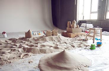 The art of sandcastles....Indoors!