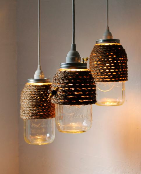 Mason Jars & Jute, a great DIY project