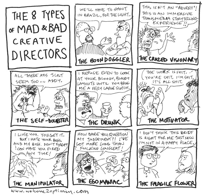 I've worked with four of these eight types. It was lovely.