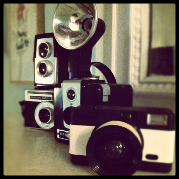 Brought the vintage cameras out from storage this weekend (Taken with  instagram )