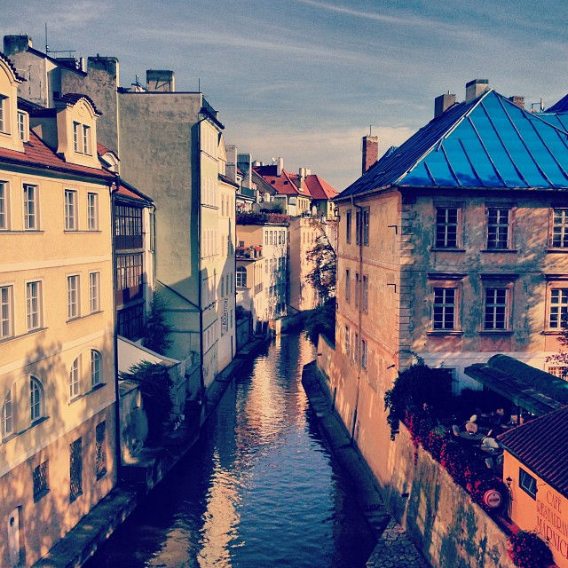 Shooting in Prague this week. It's beautiful but cold! (at Prague)