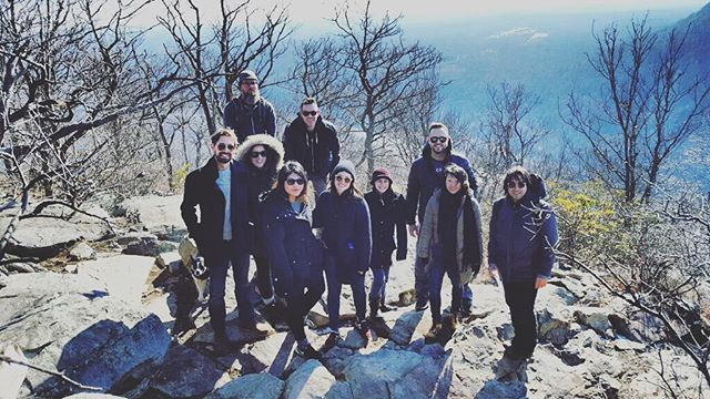 New Yorkers hiking #allblackeverything #poconos