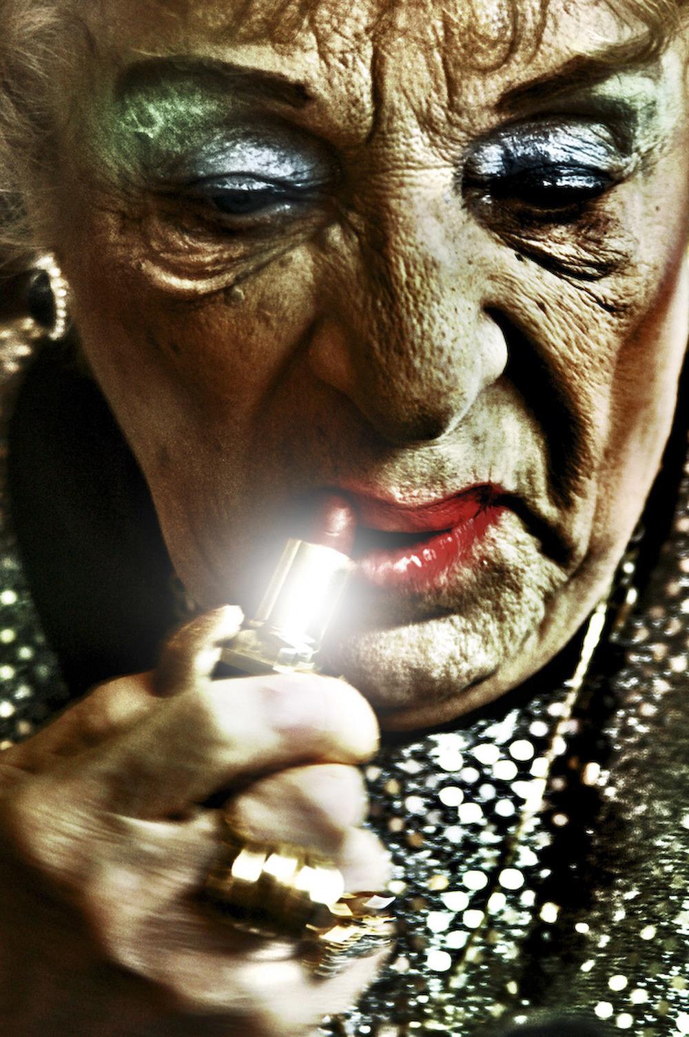 millie schmears her lipsstick.jpg