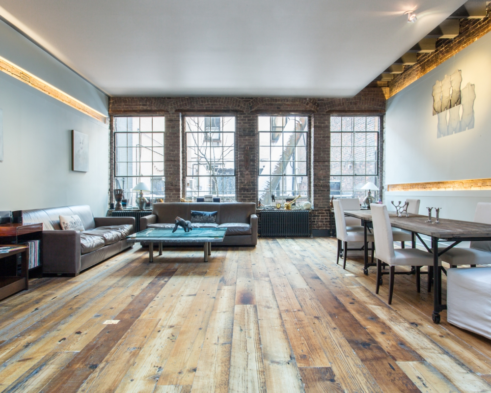 See more installed images of Weathered Hemlock > Great Jones Street Loft