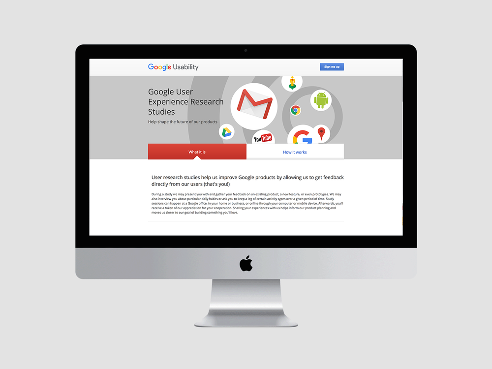 google.com/usabilty prior to the redesign