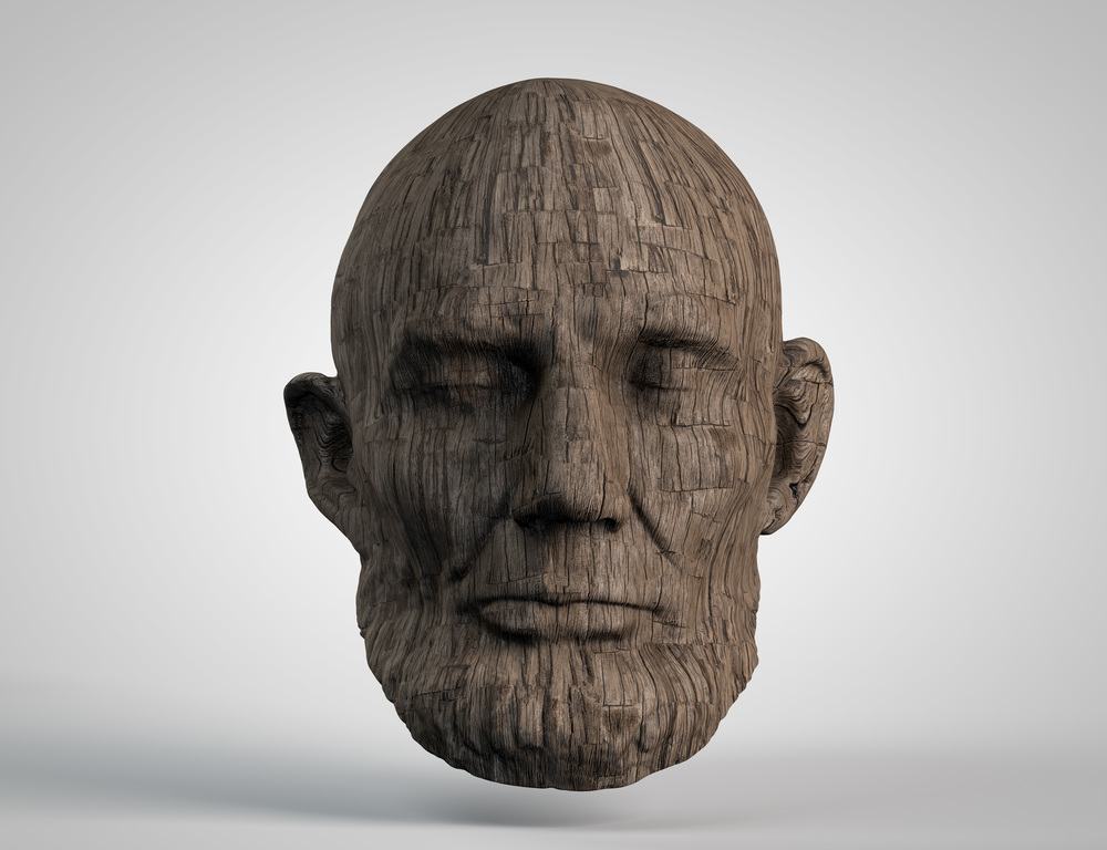 Base model via Smithsonian, mesh cleanup in Zbrush and all else in C4D.