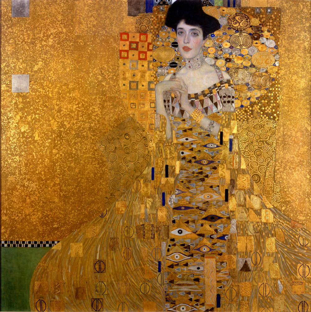 Portrait of Adele Bloch-Bauer I, Gustav Klimt (1907) | The Neue Galerie, New York.   (Image: Public domain via Wikimedia)