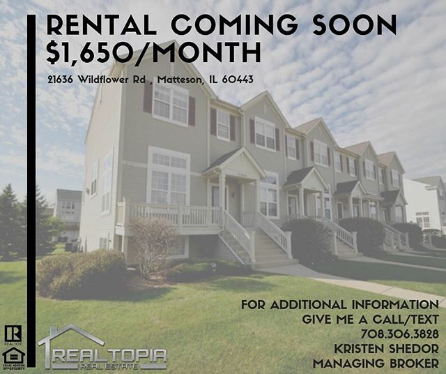 💥Matteson Rental COMING SOON💥 Message The York Team with any questions🏡 . . #realestate #realtor #client #agent #comingsoon #buy #sell #sold #chicago #illinois #rental #home #townhouse #happy #money #business #entrepreneur #vibes #positive #october