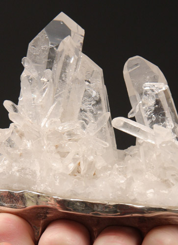 Quartz crystals, sterling silver
