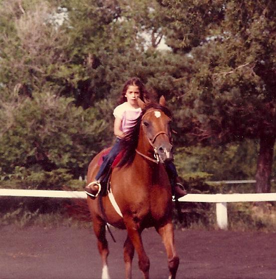 Riding at age 8