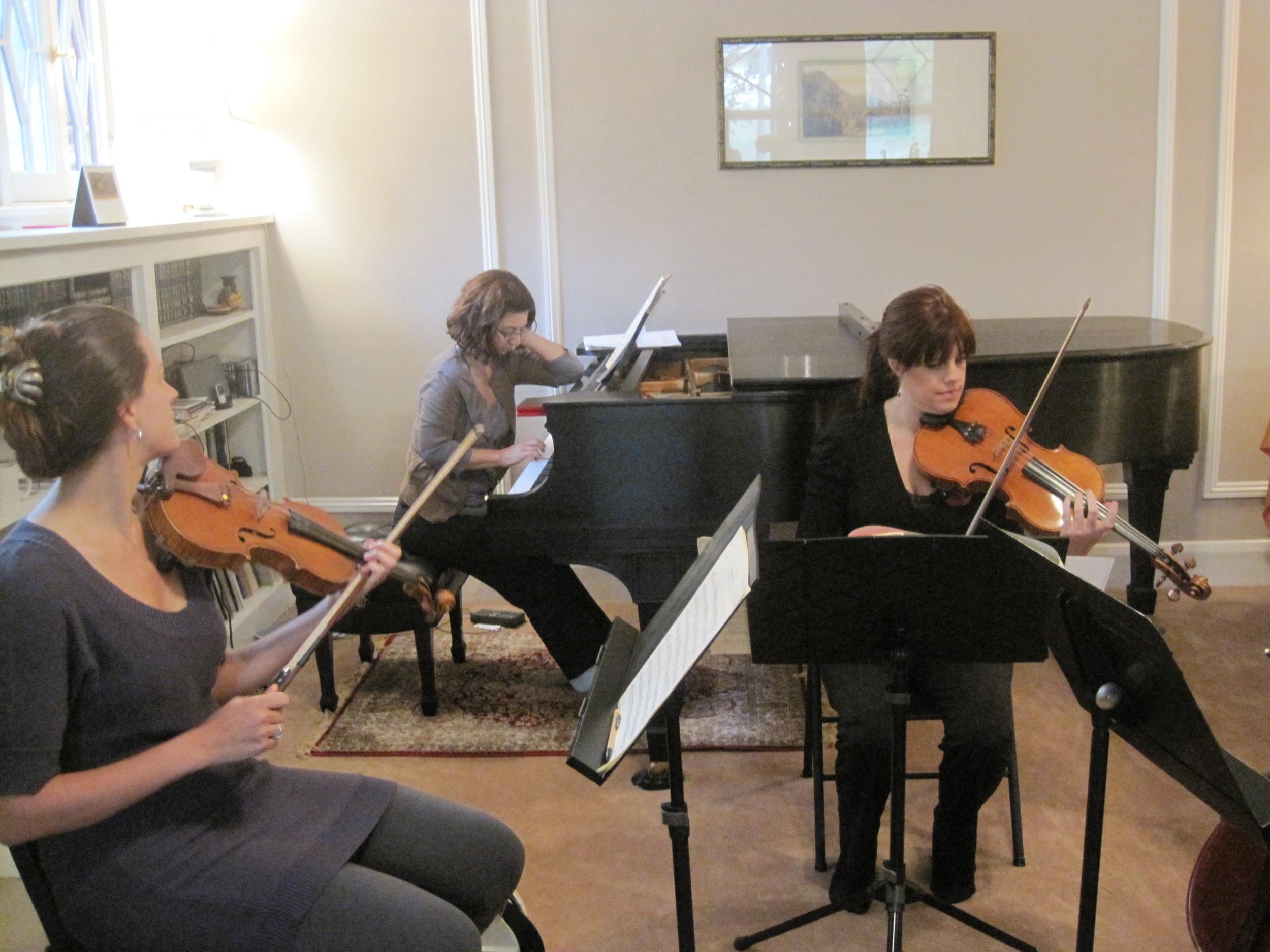Musicians tuning