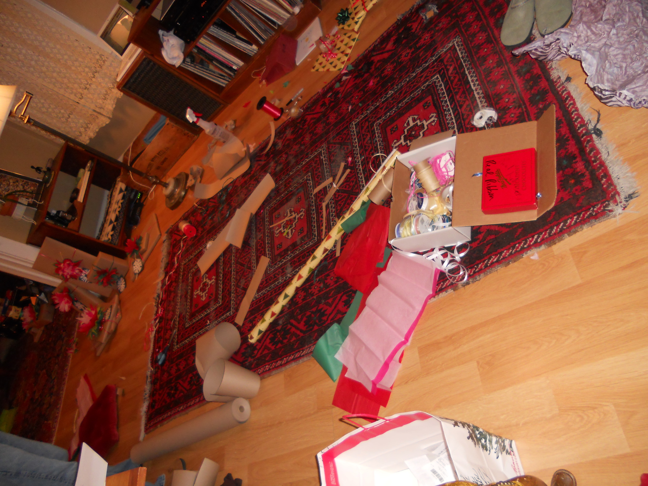 Gift wrapping mayhem!