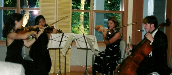 Performing a Dvorak string quartet at Olympic Music Festival.