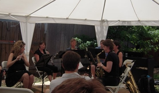 Our first ever performance.At Saxquest. - It was hot. Really hot.
