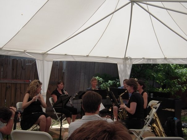 Our first performance ever, at Saxquest. Playing Scaramouche by Milhaud.