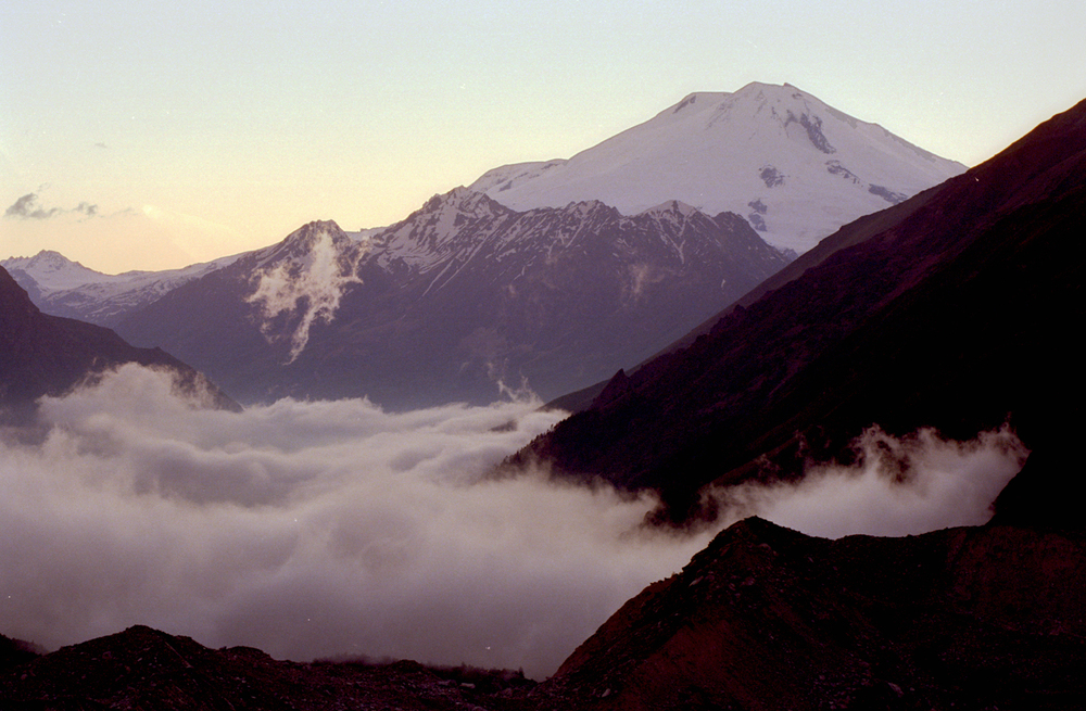 Caucasus Mountains, Russia. View of Mt. Elbrus, published in The Los Angeles Times travel section