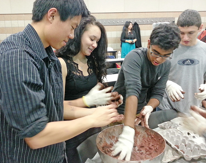 University of Minnesota students made seed bombs at a BAM meeting.