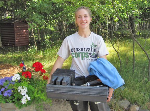 Caitlin Daudt served as an apprentice at the Crow Wing County SWCD in 2014.
